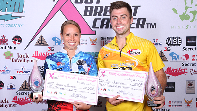Kyle Sherman, Amanda Greene Win PBA/PWBA Storm Striking Against Breast Cancer Mixed Doubles Thriller